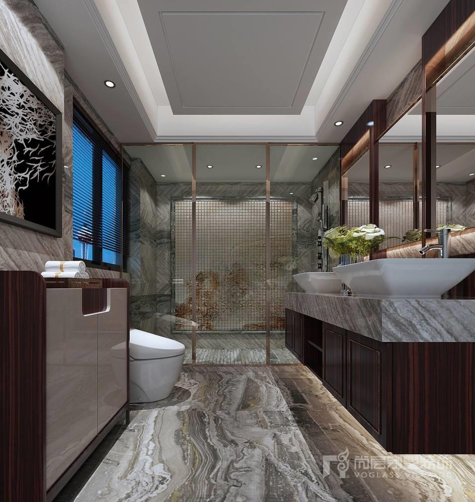 新中式风格别墅卫生间装修设计效果图