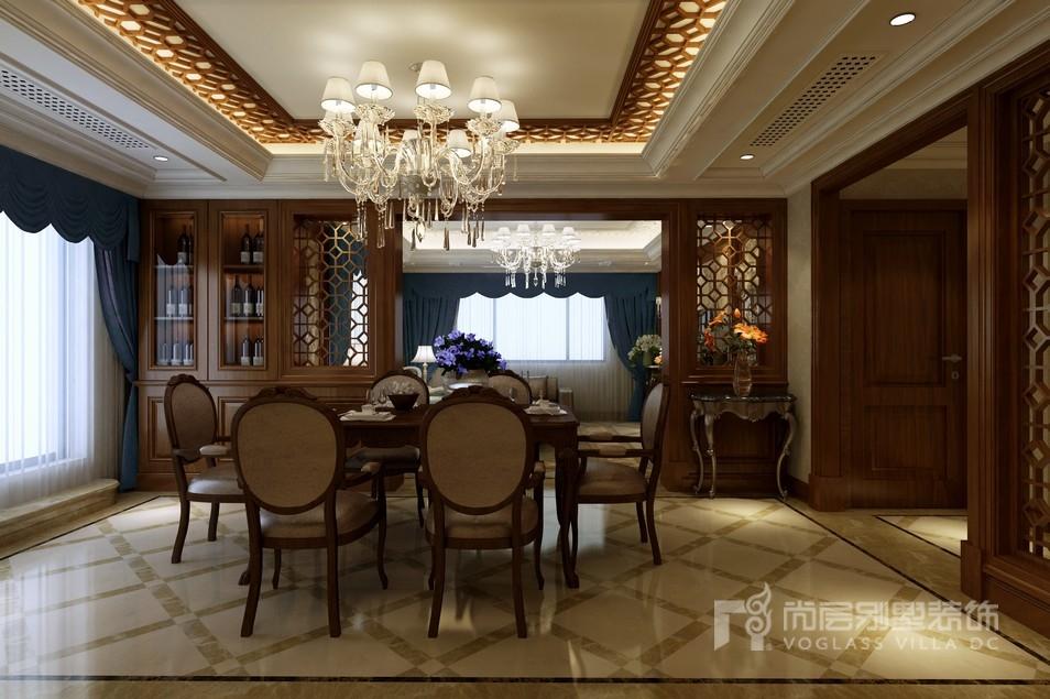 陆家嘴中式风格餐厅装修设计效果图