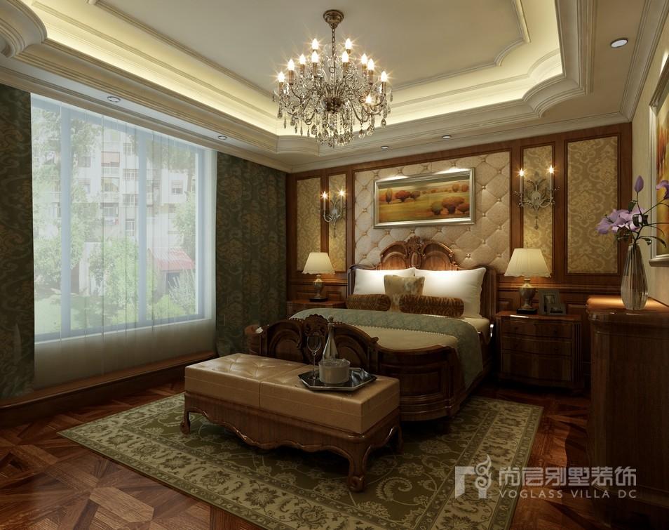 陆家嘴花园中式风格卧室装修效果图