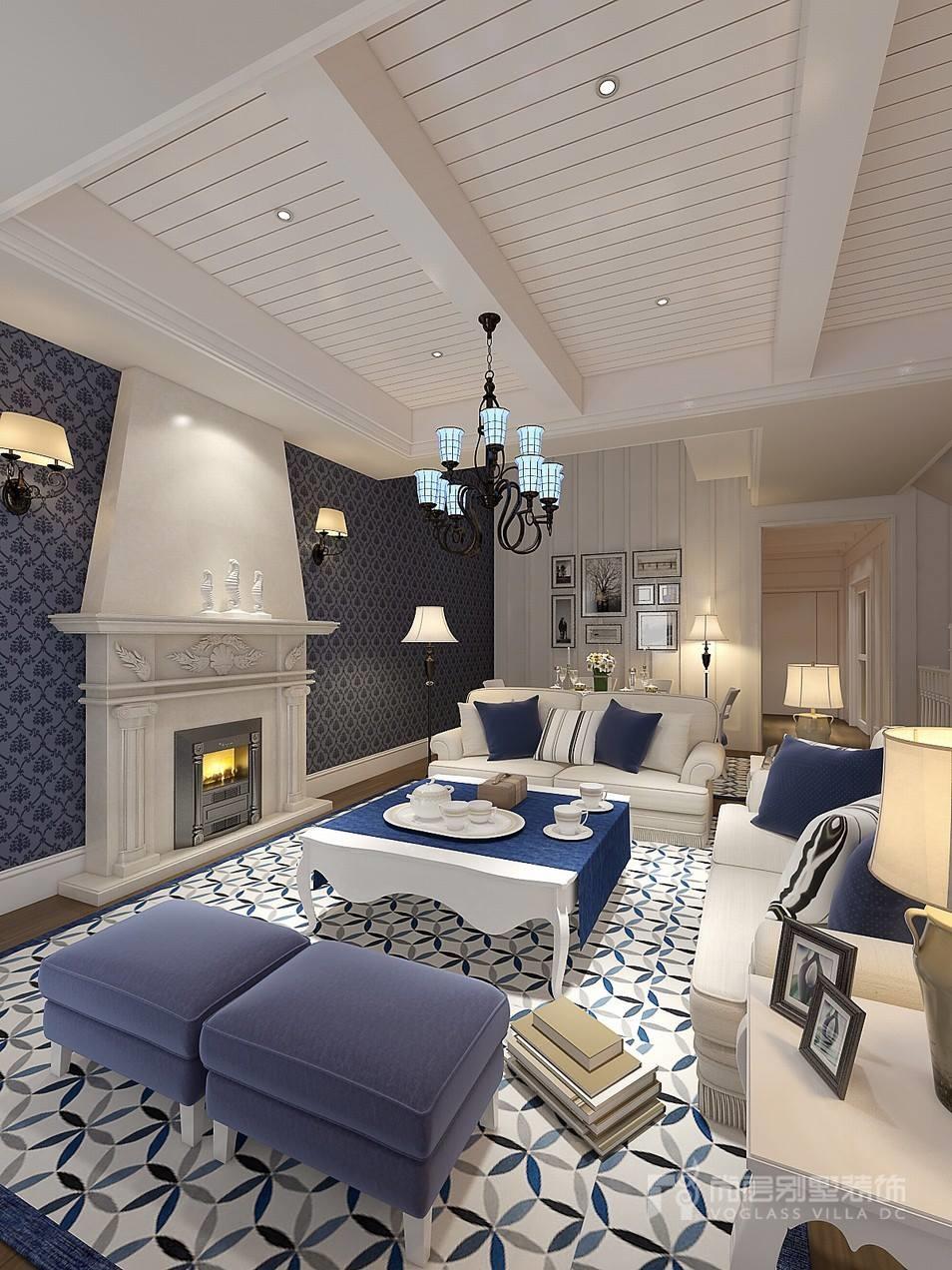 430平米地中海风格别墅装修案例设计效果图 — 上海