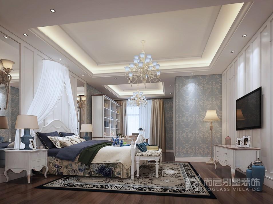 地中海风格卧室装修设计效果图
