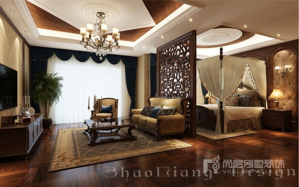 新古典风格别墅卧室装修设计效果图
