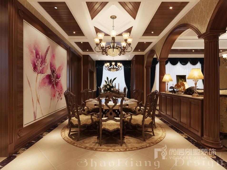 新古典风格别墅餐厅装修设计效果图
