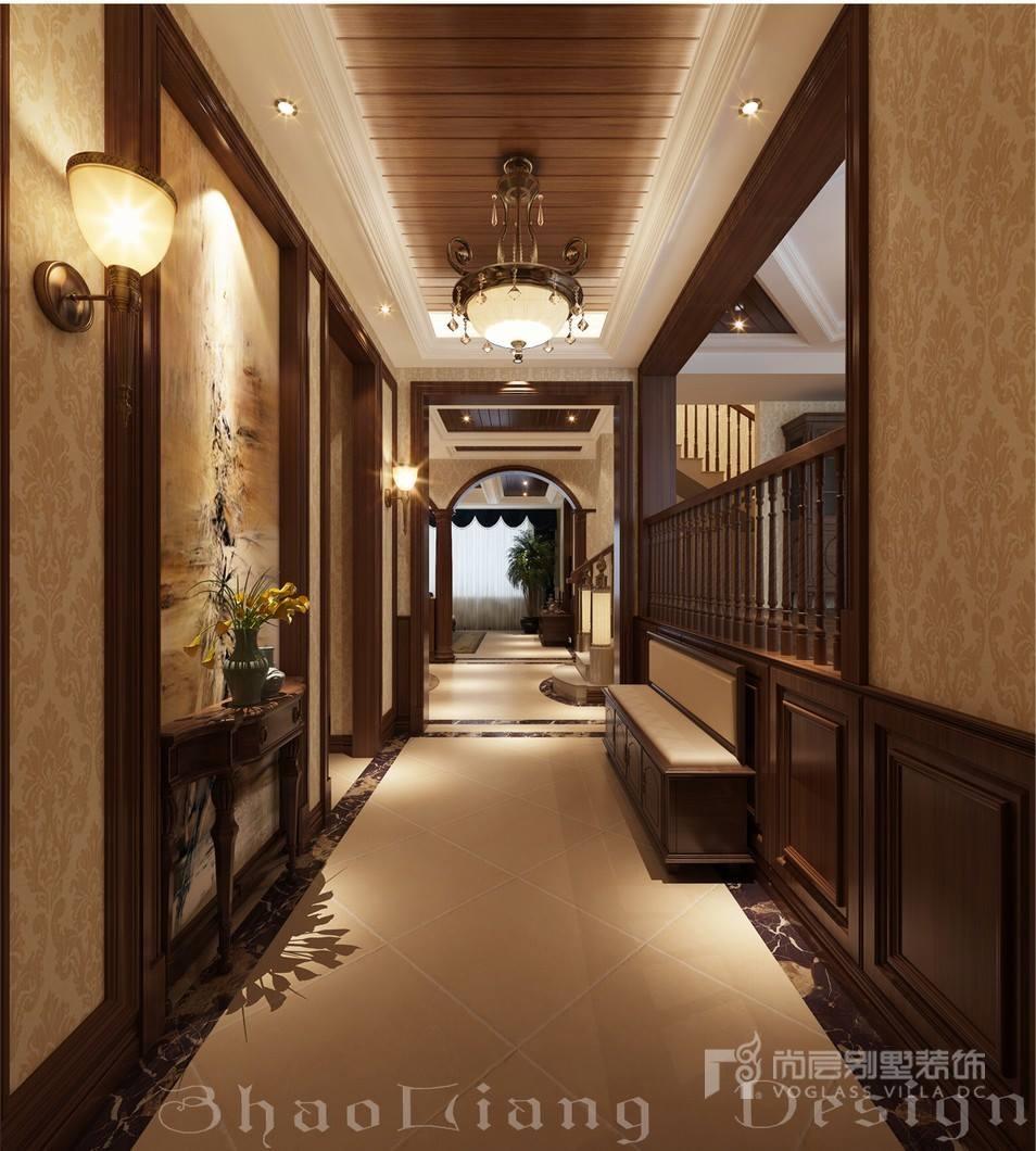 新古典风格别墅玄关设计效果图