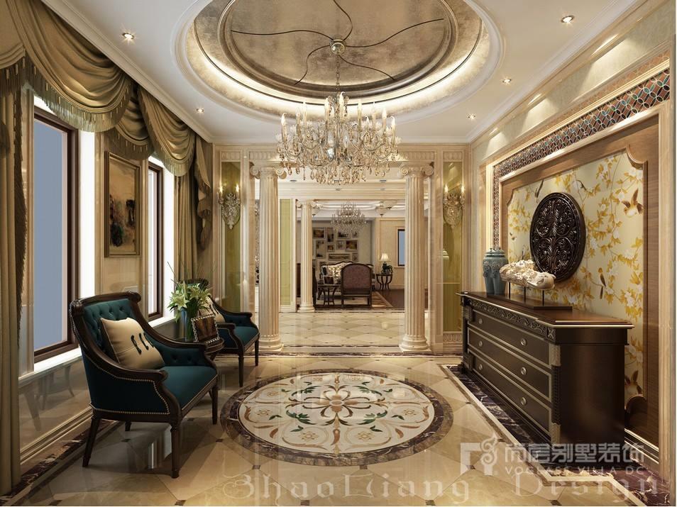 欧式风格别墅玄关门厅装修设计效果图