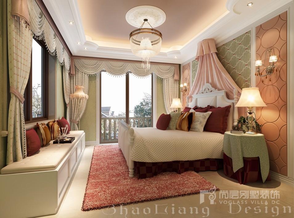 欧式风格别墅卧室女儿房装修设计效果图