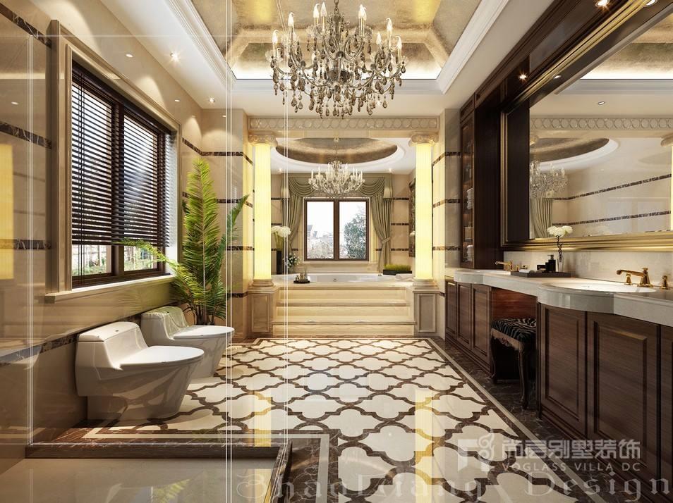 欧式风格别墅卫浴间装修设计效果图