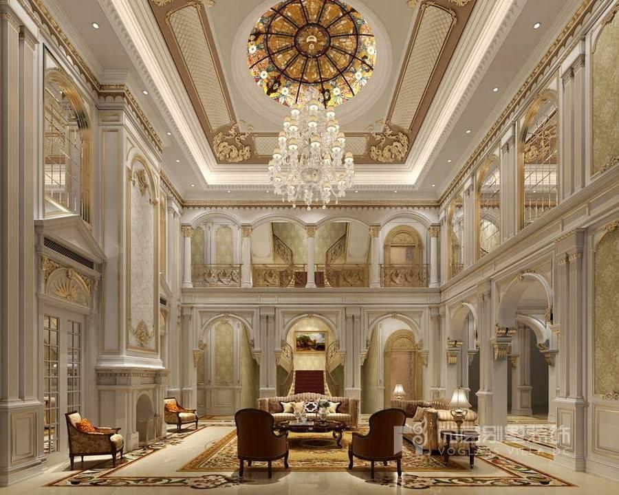 欧式豪华别墅客厅装修设计效果图