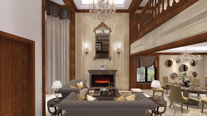 620平米别墅复式楼客厅装修设计效果图