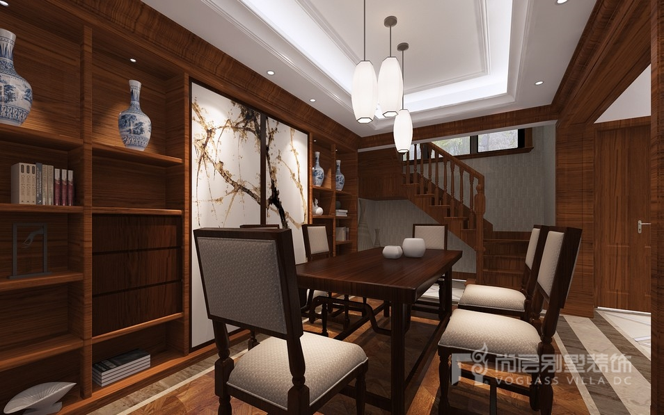 欧式风格别墅茶室装修设计效果图