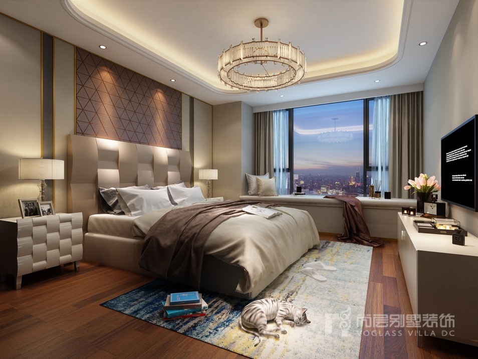 大宁金茂府后现代风格卧室装修效果图
