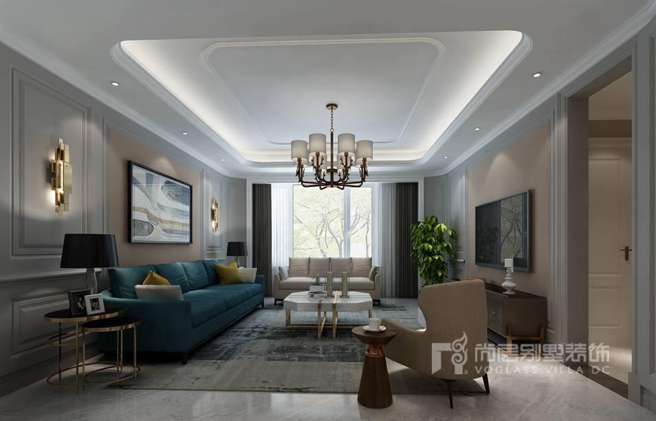 400平方米别墅装修效果图-客厅