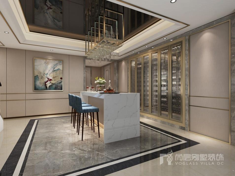 中骏天誉别墅现代奢华风格酒吧区装修效果图