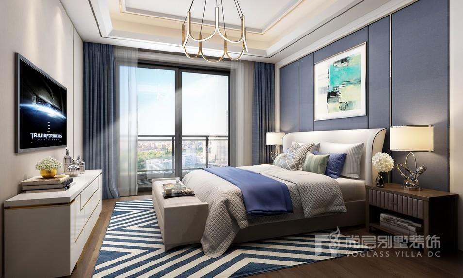 中骏天誉别墅现代奢华风格卧室装修效果图