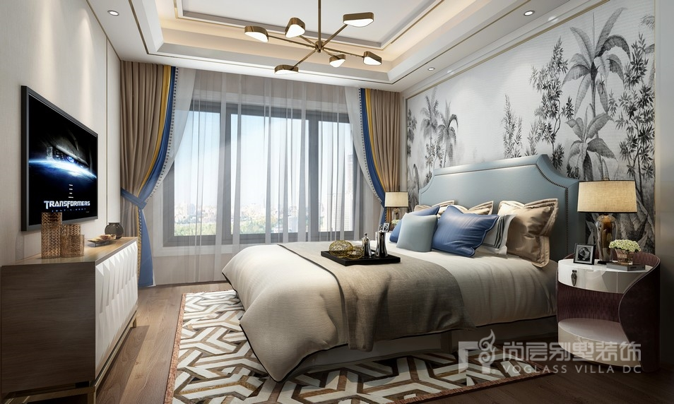 现代奢华风格卧室装修设计效果图