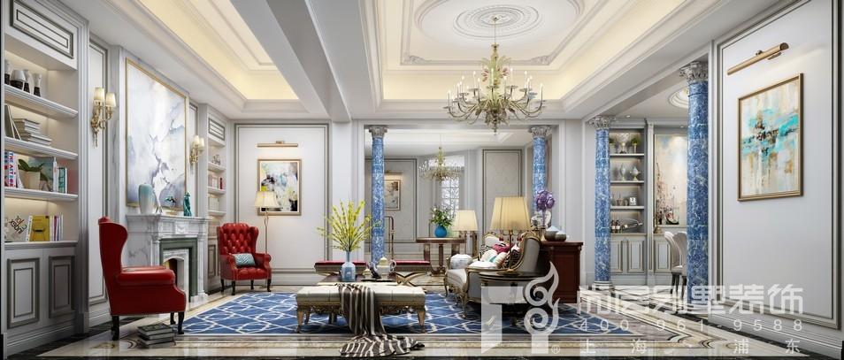 金大元御珑宫廷法式风格客厅装修效果图