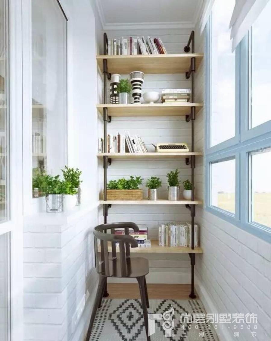 阳台书架装修设计效果图