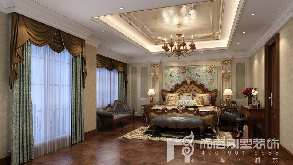 中建大公馆新古典风格主卧室装修效果图