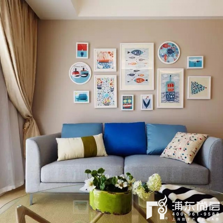 文艺风格客厅装修效果图
