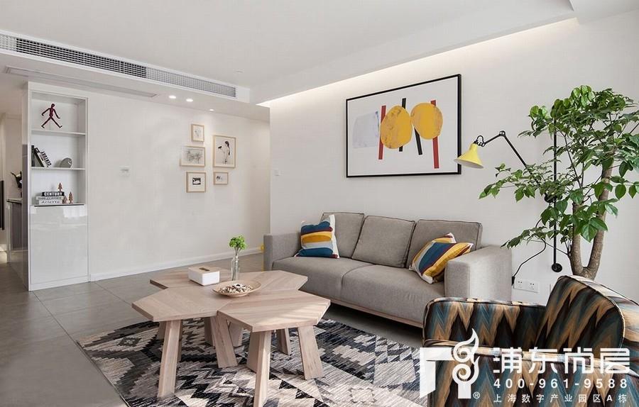 文艺风格客厅装修设计效果图