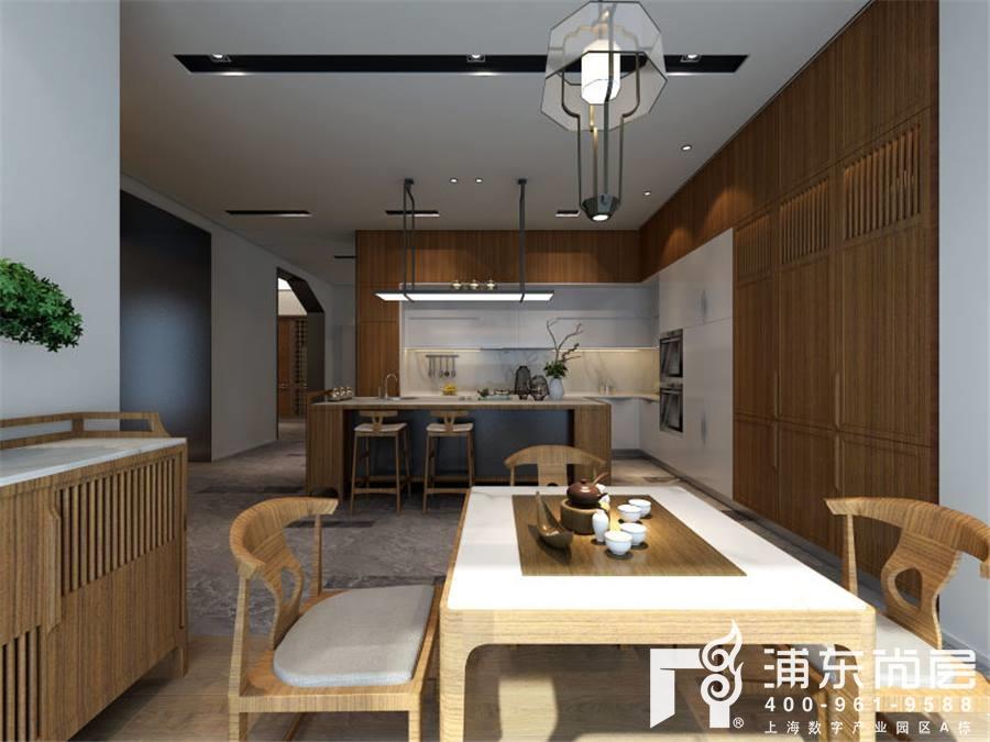 爱朴橱柜别墅厨房装修设计效果图