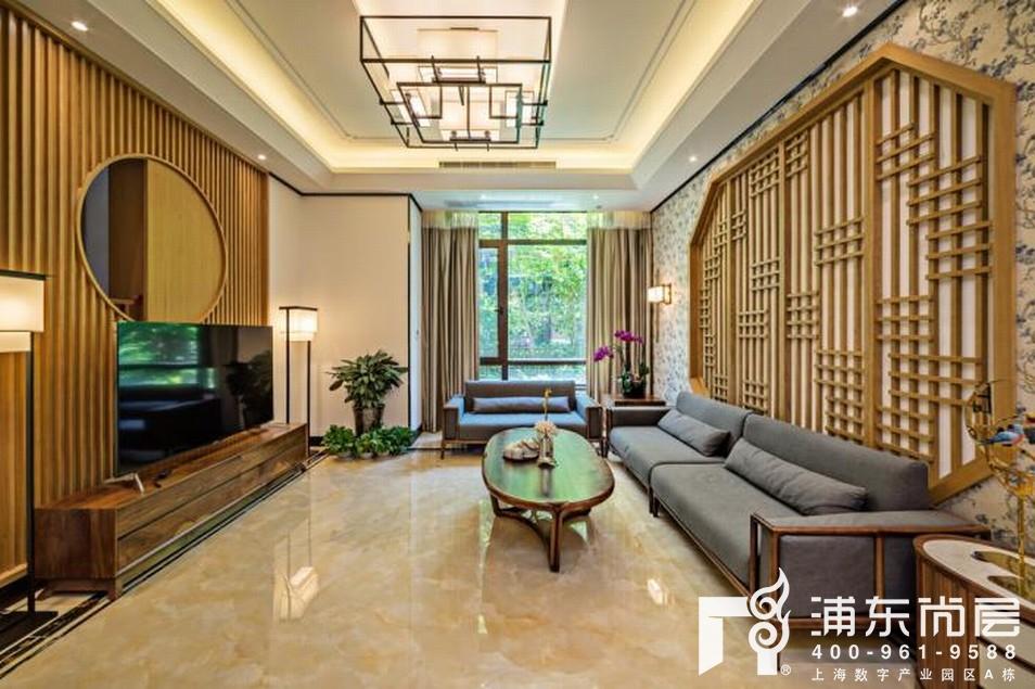 尚东鼎别墅客厅装修实景图