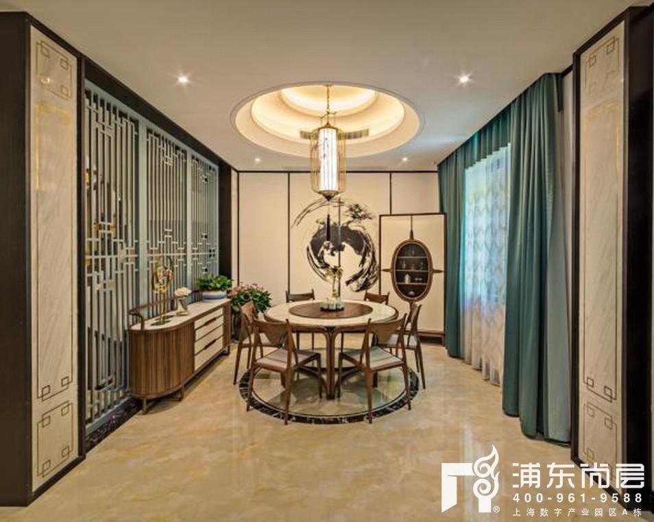 尚东鼎新中式风格餐厅装修实景图