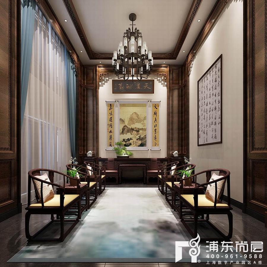 红木中式风格别墅客厅装修效果图