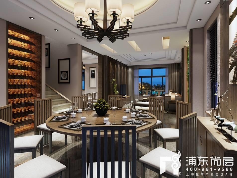 康桥半岛新中式风格装修效果图,360别墅的禅意设计