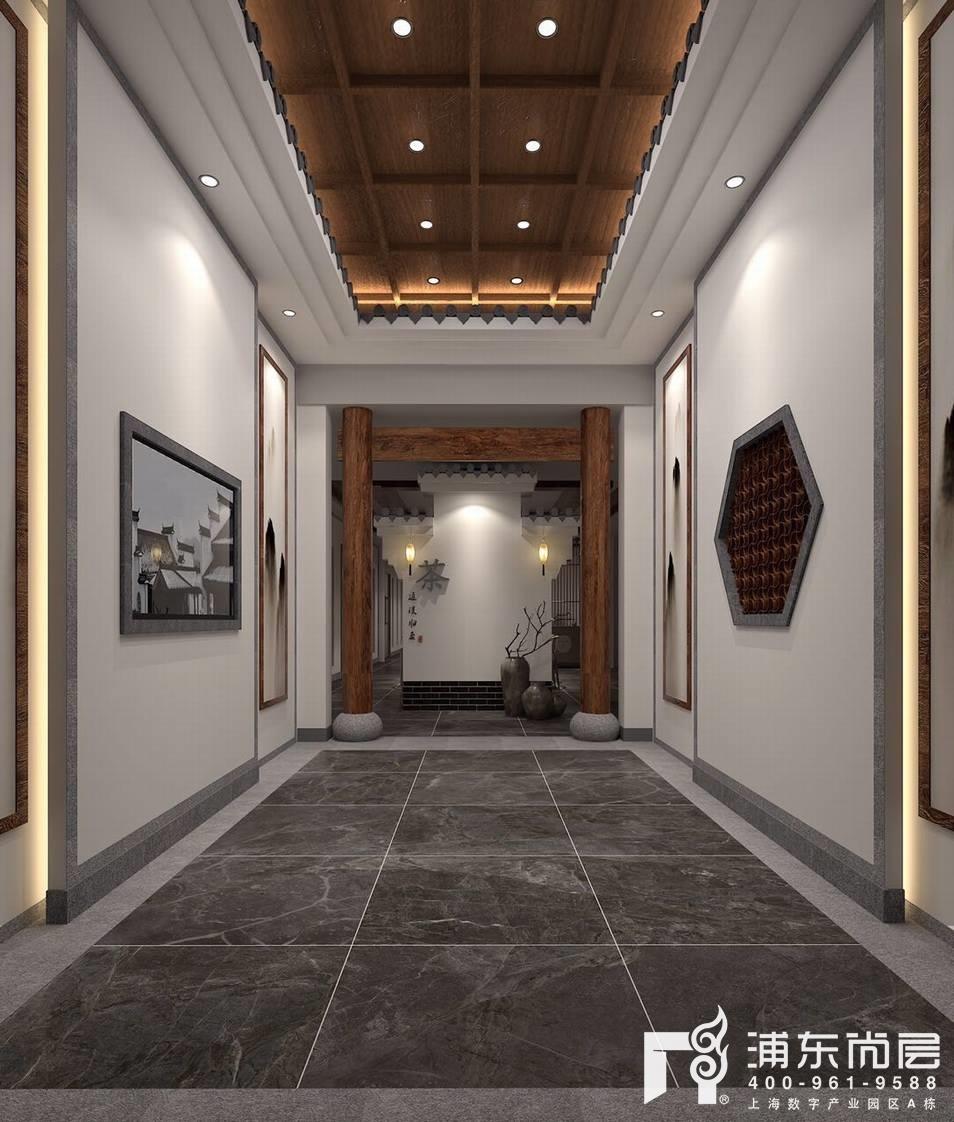 中式风格工装门厅装修效果图