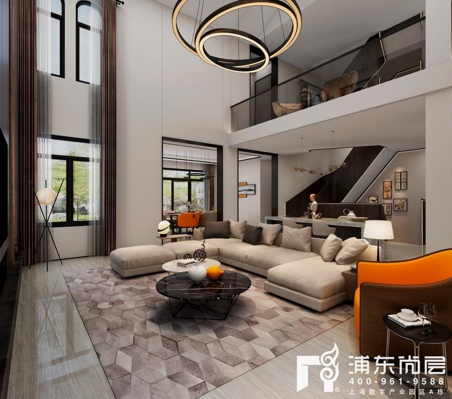 别墅客厅装修设计效果图及注意事项