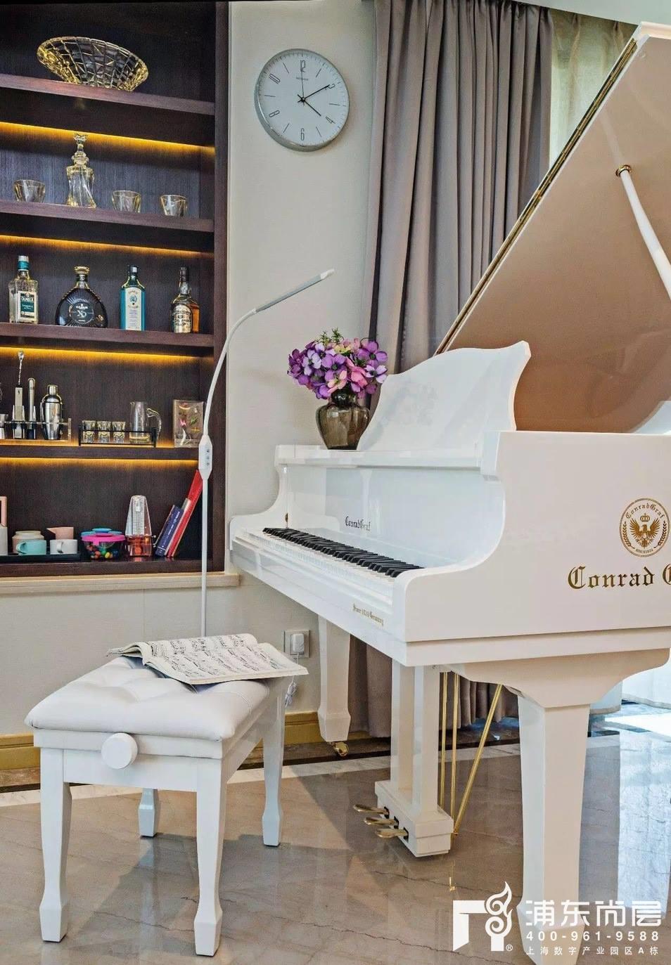 森兰雅苑业主家钢琴摆放位置实景图