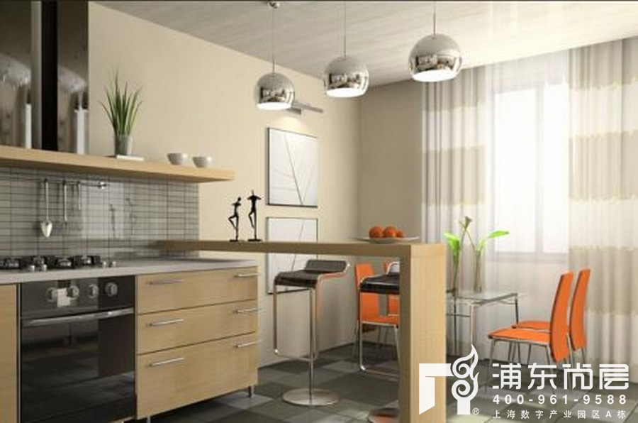 别墅厨房装修设计案例效果图