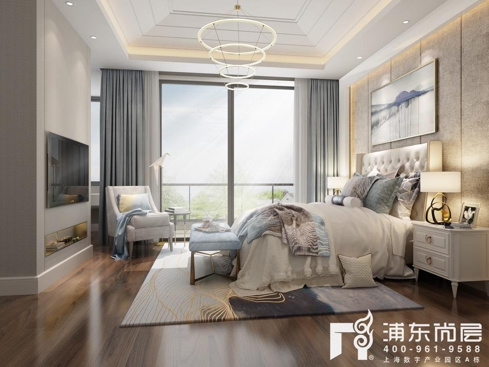 东原逸墅现代简约风格主卧装修设计效果图