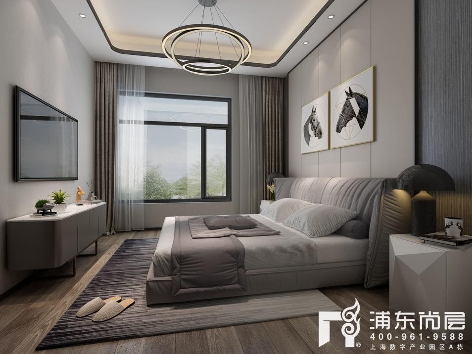 东原逸墅现代简约风格次卧装修设计效果图