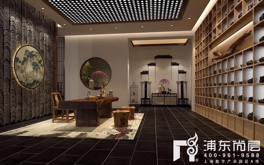 别墅禅意风格工作室装修设计效果图