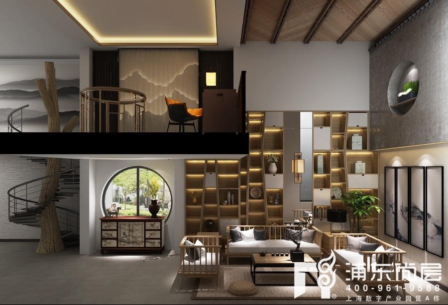 别墅禅意风格地下室装修设计效果图
