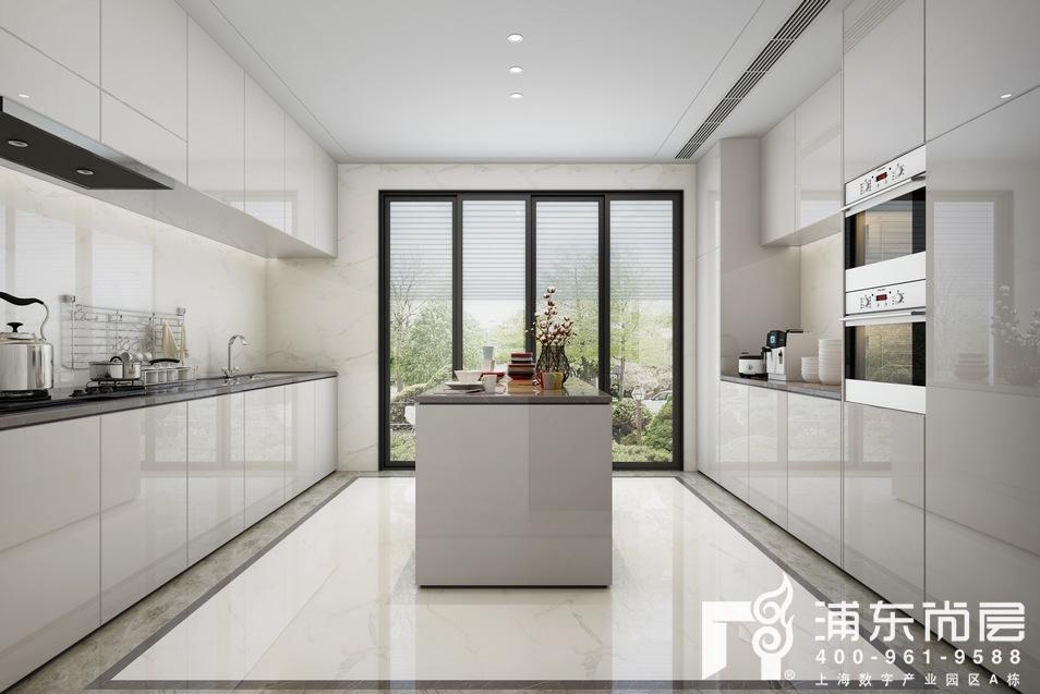 森兰名轩别墅厨房装修设计效果图