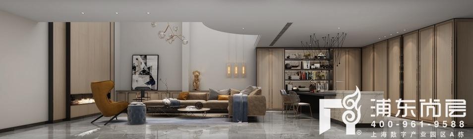 森兰名轩别墅地下室休闲厅装修设计效果图