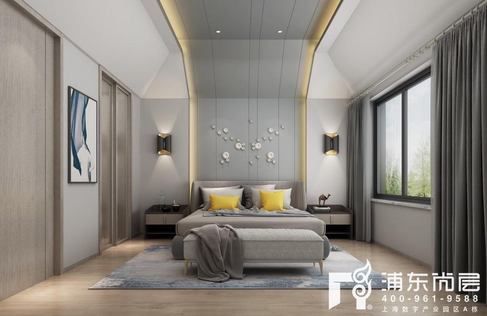 上海庄园北欧风格主卧装修设计效果图