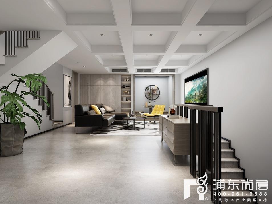 上海庄园北欧风格地下室影音室装修效果图