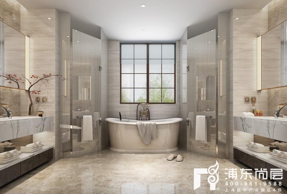 中建大公馆别墅卫生间装修设计效果图