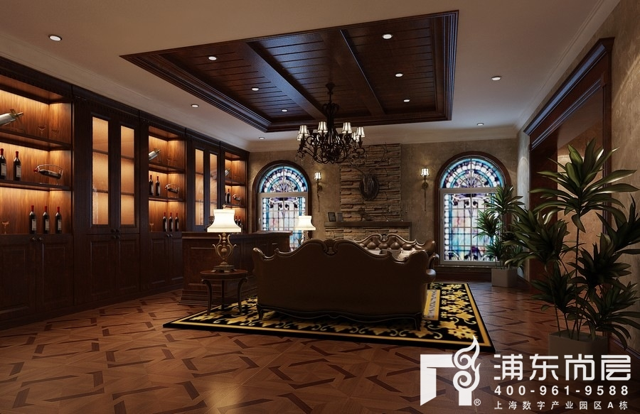 将地下室设计成一个展厅,配上合适的灯光,可以在自己的地下室