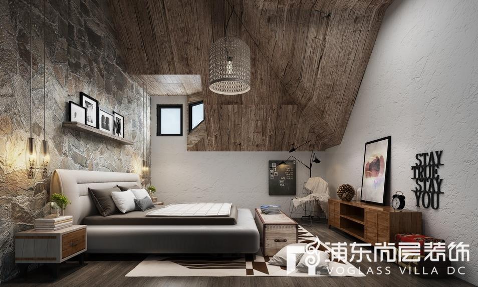 森兰名轩新中式风格次卧装修设计效果图