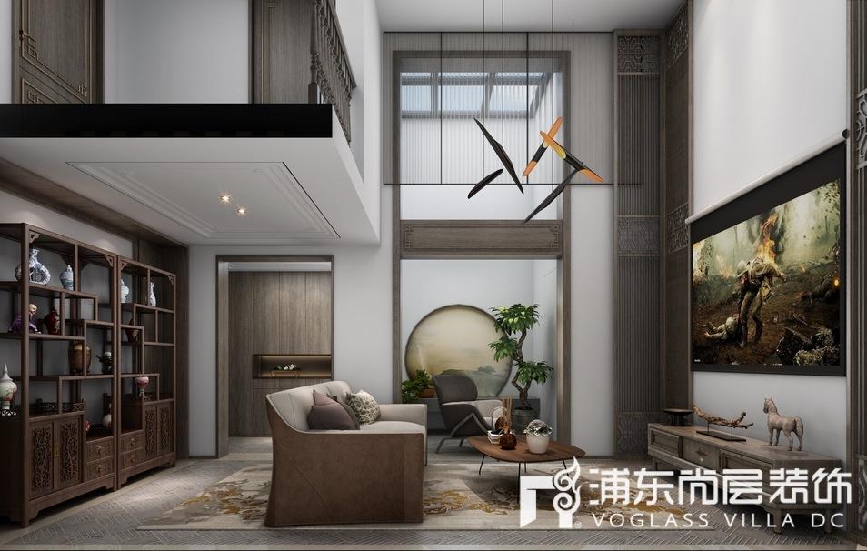 森兰名轩地下室休闲厅装修设计效果图