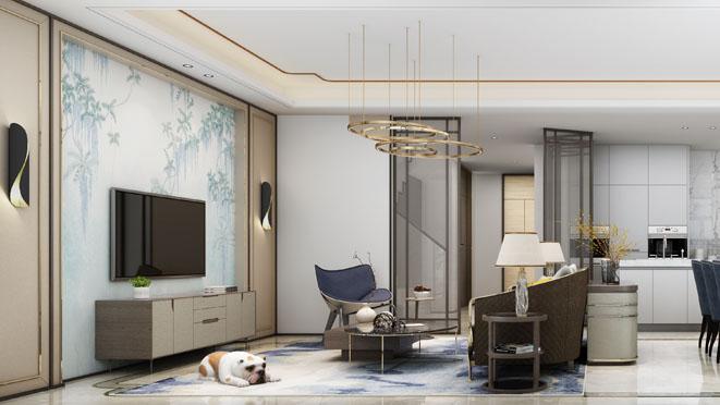 森兰名轩低奢混搭风格别墅装修设计效果图