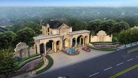 上海尚层装饰东郊罗兰别墅装修项目在施工地