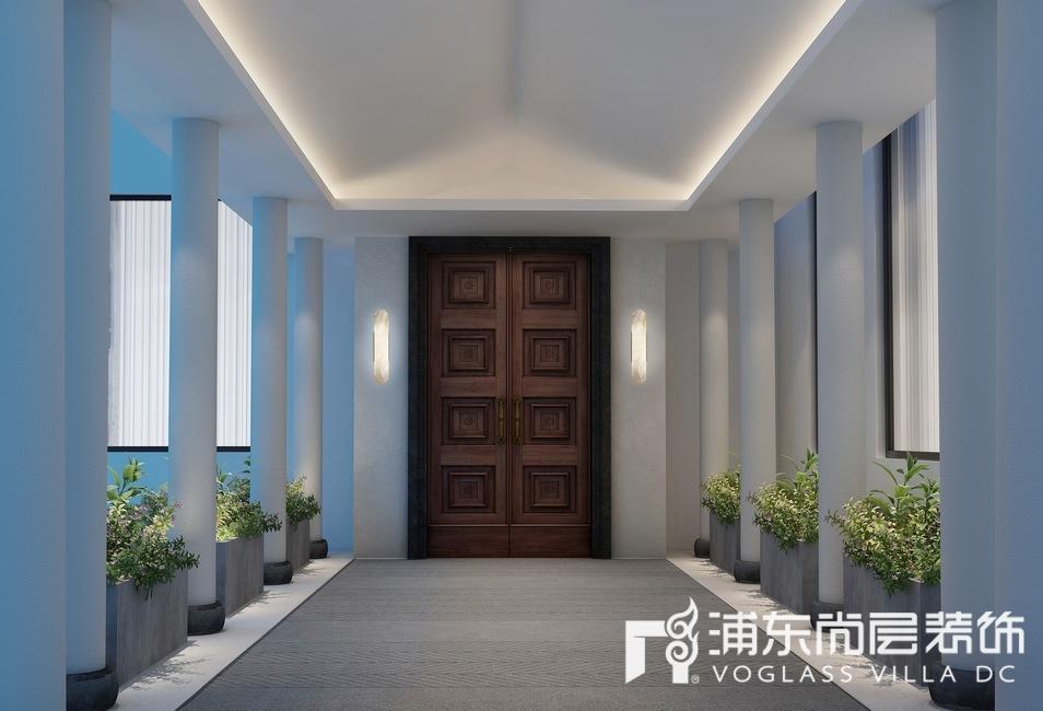 景源名墅新中式风格门厅装修设计效果图