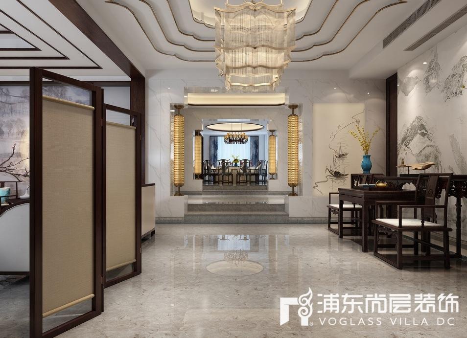 景源名墅中式风格餐厅装修设计效果图
