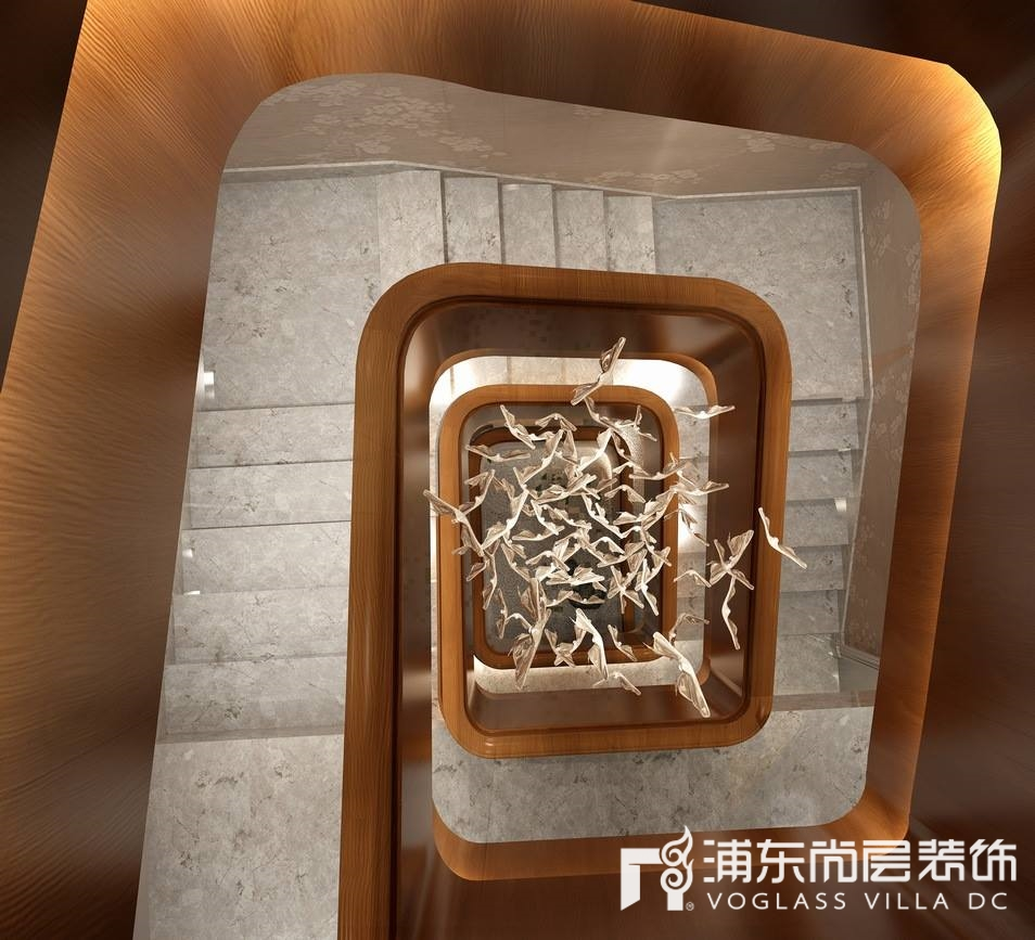 景源名墅楼梯装修设计效果图